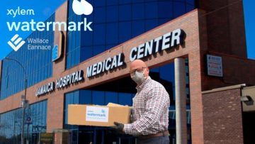 Wallace Eannace and Xylem Watermark Donate Personal Protective Equipment (PPE) to Jamaica Hospital Medical Center, Queens NY