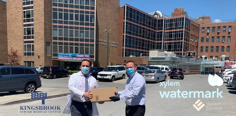 Wallace Eannace and Xylem Watermark Donate Personal Protective Equipment (PPE) to Kingsbrook Jewish Medical Center, New York