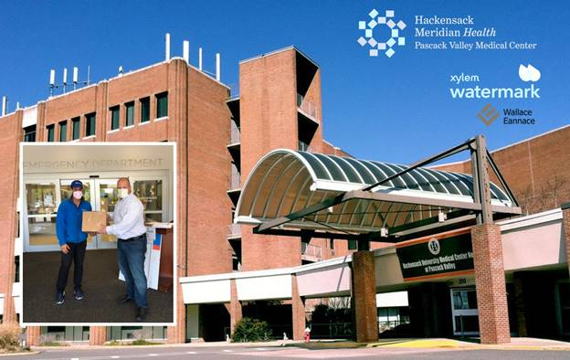 Wallace Eannace and Xylem Watermark Donate Personal Protective Equipment (PPE) to Pascack Valley Medical Center in Westwood, NJ
