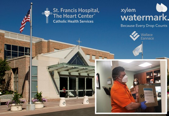 Wallace Eannace and Xylem Watermark Donate Personal Protective Equipment (PPE) to Saint Francis Hospital Roslyn, NY