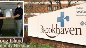 Wallace Eannace and Xylem Watermark Donate Personal Protective Equipment (PPE) to Brookhaven Memorial Hospital Medical Center Patchogue, NY